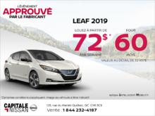Louez la Nissan Leaf 2019 dès aujourd'hui! chez Capitale Nissan