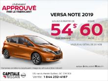Louez la Nissan Versa Note 2019 dès aujourd'hui! chez Capitale Nissan