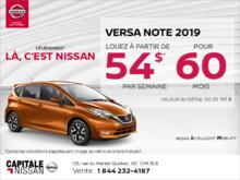 Obtenez la Nissan Versa Note 2019 dès aujourd'hui! chez Capitale Nissan