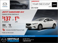 Get the 2017 Mazda6 GX Today!
