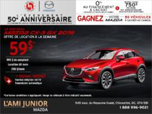 Promotion(id=43225, promotionDepartment=com.sm360.website.clientapi.dto.promotion.PromotionDepartment@e1781, imgUrlFr=null, imgUrlEn=null, imgUrl=/generator/lami-junior-mazda/201808/2018-08-procurez-vous-le-mazda-cx-3-2019-0a6619b6.png, imgUrl2Fr=null, imgUrl2En=null, imgUrl2=, descFr=null, descEn=null, desc=<p>Louez le <strong>Mazda CX-3 GX 2019</strong> à partir de <strong>59$ par semaine</strong> pour 60 mois avec 995 $ d'acompte.<br /> Pour 10$ par semaine de plus, obtenez la <strong>traction intégrale i-ACTIV et la transmission automatique!</strong><br /> Certaines conditions s'appliquent. Cette offre est valide jusqu'au <strong>31 août 2018.</strong><br /> Faites vite et planifiez votre essai routier dès maintenant!</p> , titleFr=null, titleEn=null, title=Procurez-vous le Mazda CX-3 2019!, url1Fr=null, url1En=null, url1=/fr/formulaire/neuf/demande-d-essai-routier/3?picture=ca%2f2019%2fmazda%2fcx-3%2fgx%2fcuv%2fmain%2f2019_Mazda_CX-3_GX_Main_WIP.png&trimId=9448&carId=3000&desired_model=CX-3&desired_make=Mazda&desired=catalog&desired_year=2019&desired_trim=GX, url2Fr=null, url2En=null, url2=/fr/formulaire/neuf/demande-de-prix/1?picture=ca%2f2019%2fmazda%2fcx-3%2fgx%2fcuv%2fmain%2f2019_Mazda_CX-3_GX_Main_WIP.png&trimId=9448&carId=3000&desired_model=CX-3&desired_make=Mazda&desired=catalog&desired_year=2019&desired_trim=GX, url1TitleFr=null, url1TitleEn=null, url1Title=Planifiez un essai routier, url2TitleFr=null, url2TitleEn=null, url2Title=Demandez un prix, startDate=Tue Jul 31 20:00:00 EDT 2018, endDate=Thu Aug 30 20:00:00 EDT 2018, active=false, archived=false, availableFr=false, availableEn=false, promotionZoneOnly=true, fallback=false, shareable=false, automatic=false, priority=5, makeId=6, modelId=null, year=null, trimId=null, lastModifiedDate=Fri Aug 03 05:37:32 EDT 2018, creationDate=null, promotionZoneIds=null, websiteIds=null, organizationUnitIds=null, youtubeIds={}, youtubeId=, smallPrints={}, smallPrint=null, paymentInfo=null, seoSlugUrlEn=null, seoSlu