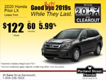 Lease the 2020 Honda Pilot!