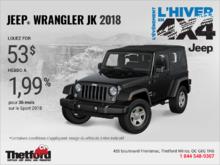 Obtenez le Jeep Wrangler JK 2018!