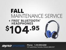 Free Bluetooth Headphones with Fall Service!