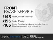 Front Brake Service at Gyro Hyundai!