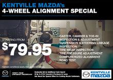 Kentville Mazda's 4-Wheel Alignment Special