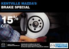 Kentville Mazda's Brake Special