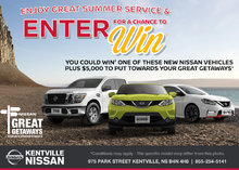 Nissan Great Getaways Service Sweepstakes