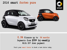 Get a 2016 smart fortwo pure Today
