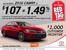 Get the All-New 2016 Toyota Camry LE!