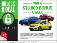 Unlock a Deal with Honda!