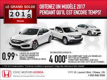 Le grand solde Honda 2017