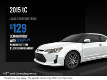 Save on the new 2015 Scion tC today!