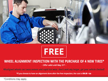 Get a Free Wheel Alignment Inspection!