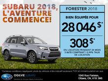 Obtenez le Subaru Forester 2018