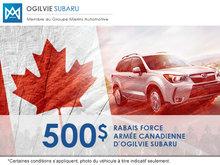 Programme de rabais pour les militaires canadiens chez Ogilvie Subaru