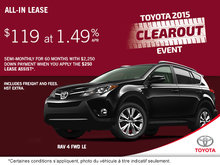 Save on the all-new 2015 Toyota RAV4 FWD LE!