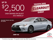 Get the all-new 2015 Toyota Camry XSE!