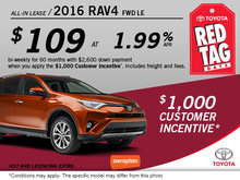 Save on the All-New 2016 Toyota RAV4!