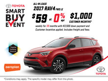 Save on the All-New 2017 Toyota RAV4!