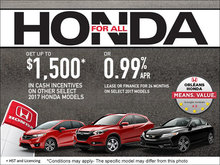 The Honda For All Sales Event!