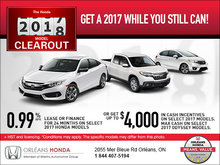 2017 Honda Clearout