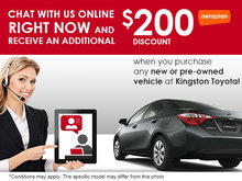 Chat With Us, and Save $200