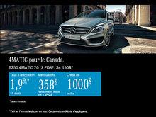 La Mercedes-Benz B250 4MATIC 2017