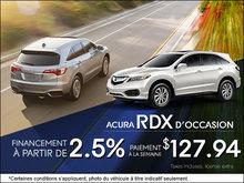 RDX d'occasion à partir de 127,94$ par semaine!