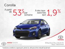 Économiser sur le Toyota Corolla 2017