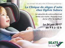 Clinique d'ajustement pour les sièges d'auto chez Ogilvie Subaru
