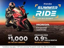 Honda's Summer Ride Sales Event