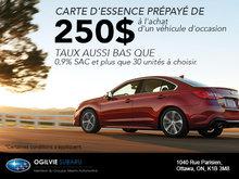 Achetez un véhicule d'occasion, obtenez une carte d'essence de 250$!