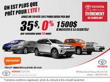 Louez un Toyota pour 35 $ par semaine