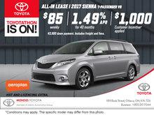 Get the 2017 Toyota Sienna!