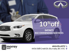 10% off Infiniti recommended services
