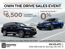 Infiniti's Own the Drive Sales Event