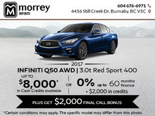 Save on the 2017 Q50 Red Sport AWD!