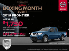 Get the 2016 Nissan Frontier Today!