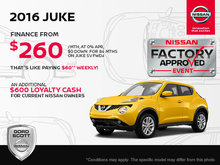 Get the 2016 Nissan Juke Today!