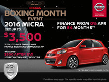 Get the 2016 Nissan Micra Today!