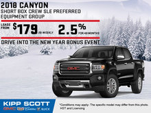 Save Big on the 2018 GMC Canyon!