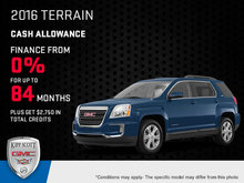 Save Big on the 2016 GMC Terrain Today!