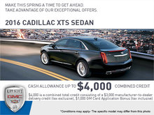 Save Big on the 2016 XTS Sedan!