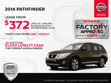 Get the 2016 Nissan Pathfinder Today!