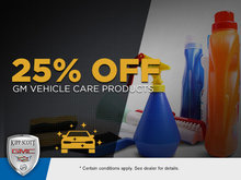 Save 25% on GM Vehicle Care Products!