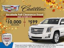 Escalade Fall Clearance Event