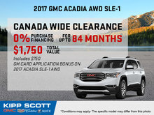 Save Big on the 2017 GMC Acadia