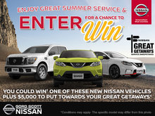 Nissan Great Getaways Service Sweepstakes