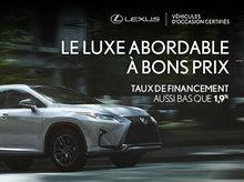 Véhicules d'occasion Certifiés Lexus